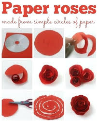 Paper Craft Steps - step by step paper craft ideas simple paper roses paper craft easy