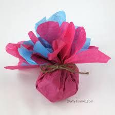 present tissue paper tissue paper flower favors
