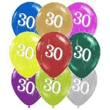 large birthday balloons 16 inch 40cm age birthday printed party supplies perth