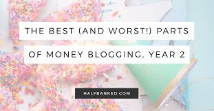 the best and worst parts of my second year blogging about money