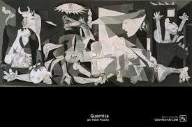 tableau portrait noir et blanc guernica tableau de pablo picasso