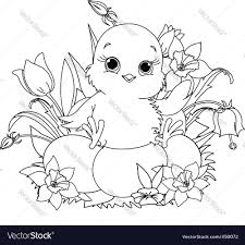 happy easter coloring page royalty free vector image
