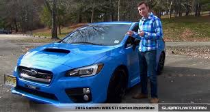 blue subaru 2017 review 2016 subaru wrx sti hyperblue youtube