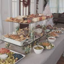 how to make a buffet table hgtv a layered buffet table more room for festive foods