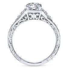 stone engagement rings images Vintage platinum round 3 stones diamond engagement ring three jpg