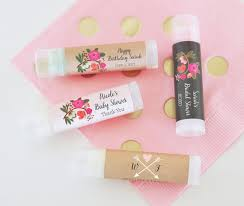 lip balm favors rustic baby shower favors floral baby shower lip balm favors