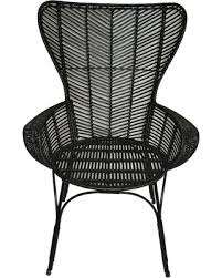 don u0027t miss this deal on black rattan wingback chair threshold