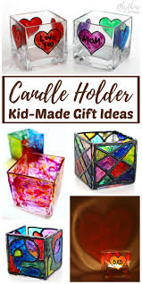 diy faux stained glass candle holders rhythms of play