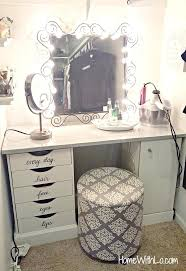Bedroom Makeup Vanity With Lights Gorgeous Vanities For Bedroom With Lights Shopfresh Co