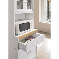 kitchen pantry storage cabinet microwave oven stand with storage hodedah china cabinet white with microwave shelf hikf96