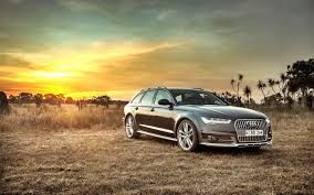 sunset audi hd background audi a6 allroad side view sunset hdr car wallpaper