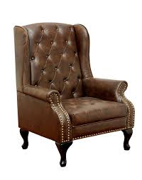 Leather Kitchen Chair Amazon Com Furniture Of America Elmas Traditional Leatherette
