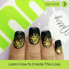 golden glitter nail art u2013 mitty nail art tools u0026 brushes