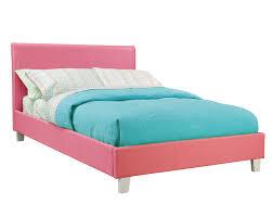 Turquoise Bed Frame Child U0027s Platform Bed Upholstered Leather Like Fantasia Pink Bed