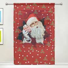 Santa Curtains Online Get Cheap Printing Christmas Curtains Aliexpress Com