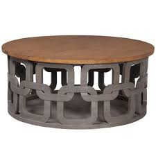 cottage style round coffee tables gray wash round coffee table carved pattern home decor