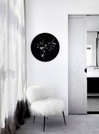 black and white apartment with a touch of glam digsdigs