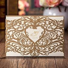 gold set for marriage wishmade 50pcs gold laser cut wedding invitations