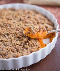 praline topped sweet potato casserole that can bake