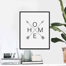 Scandinavian Wall Clock Aliexpress Com Buy Home Arrow Print Sign Scandinavian Arrows