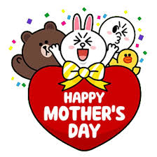 mothers day stickers happy s day cony and brown ˆ ˆԅ