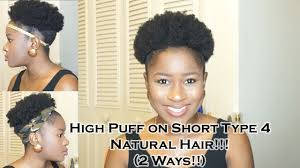 what type of hair do you use for crochet braids how to do a high puff on short type 4 natural hair 2 ways mona