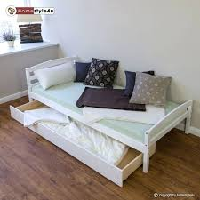 Single Bed Frame With Trundle Single Bed With Trundle Single Storage Bed Solid Wood Bed Frame
