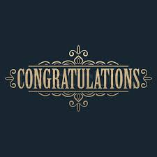 congratulations card calligraphic design element golden congratulations card design