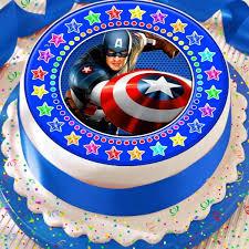 captain america cake topper captain america border precut edible birthday cake topper