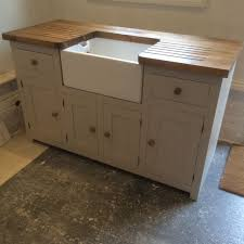Sink Units Kitchen Kitchen Sink Unit Free Standing Solid Pine With Belfast Sink And
