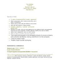 Example Of Skills For Resume by Dock Worker Cover Letter