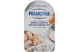 philadelphia garden vegetable bagel chips u0026 cream cheese dip