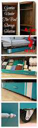 Beds With Bookshelves Genius Diy Under The Bed Storage