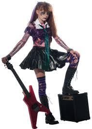 Kids Halloween Costumes Zombie Girls Punk Rock Halloween Fancy Dress Kids Child Zombet