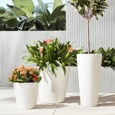 tall white outdoor planters outdoor designs
