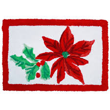 Christmas Bathroom Rugs Poinsettia Red Winter Holidays Bathroom Rug And 50 Similar Items
