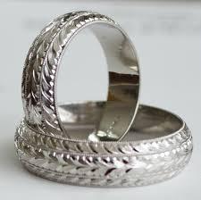 hand engraved man u0027s 14k gold 6 mm wide wedding band ring