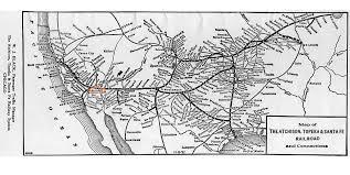 Santa Fe Map Pcad Atchison Topeka And Santa Fe Railway Atsf Depot