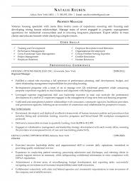 Regional Manager Resume Examples by Resume Property Manager Resume Sample