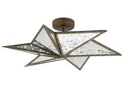Semi Flush Mount Antiqued Mirror Star Semi Flush Mount Mecox Gardens