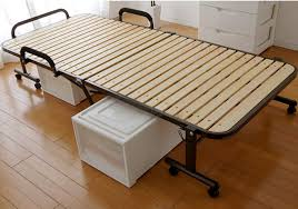 Folding Bed Frame Shop Japanese Tatami Metal Folding Bed Frame With Caters