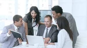 equipe bureau businesswoman conversing hd stock 722 796 836