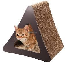Cat Scratchers Cardboard Cardboard Triangle Cat Scratcher 3 Sided Kitten Playing Board