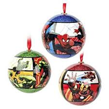 marvel tree shatterproof ornaments