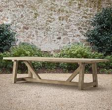 Designs For Wooden Picnic Tables by Best 25 Outdoor Tables Ideas On Pinterest Farm Style Dining