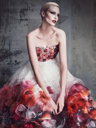 Vanity Fair Latest Issue Nadja Auermann Soars In U0027couture Showing U0027 By Luigi U0026 Iango For