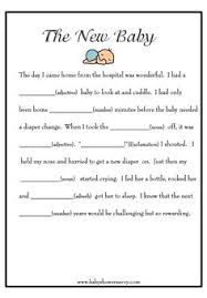 baby mad libs free printable baby shower mad libs mad gaming and babies