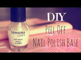 diy peel off nail polish base youtube