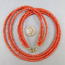 coral beads necklace images Old coral necklace 3 strands natural coral jewelry pale red coral jpg