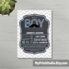instant download baby shower invitations chevron baby boy shower invite template for word chevron
